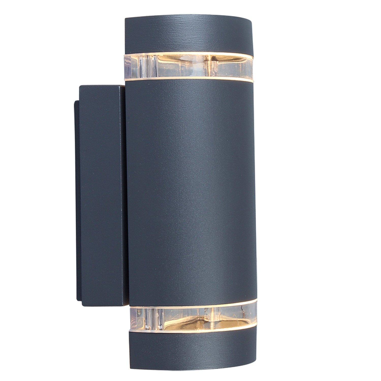 eco light moderne au enwandleuchte focus up und downlight fassung gu10 ip44 ebay. Black Bedroom Furniture Sets. Home Design Ideas