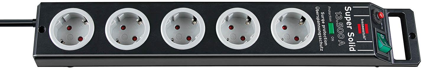 brennenstuhl super solid berspannungsschutz steckdosenleiste 5 fach ebay. Black Bedroom Furniture Sets. Home Design Ideas